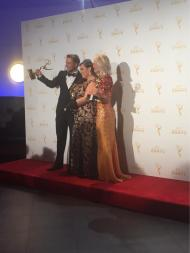 """A big congratulations to Derek Hough, Julianne Jough, & Tessandra Chavez on their Outstanding Choreography Emmys!"" Emmy Awards - September 12, 2015 Courtesy dancingABC twitter"